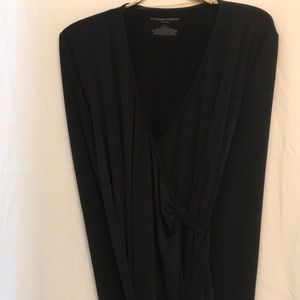 NWOT Maternity black wrap dress